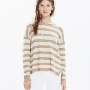 Madewell Warmlight Striped Wool Blend Pullover